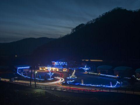 江の川カヌー公園さくぎ 冬の夜景