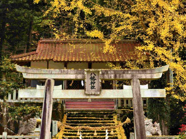[入 選] いちょうの神社 (石田 祥枝(三次市))